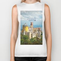 neverland Biker Tanks featuring Neverland by Sandy Broenimann