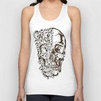 skeleton Tank Tops featuring Skeleton by ViviRajski