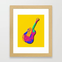 Groovy Guitar Framed Art Print