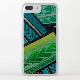 Green Tatau Clear iPhone Case