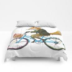 Fox goes to Tea (white) Comforters