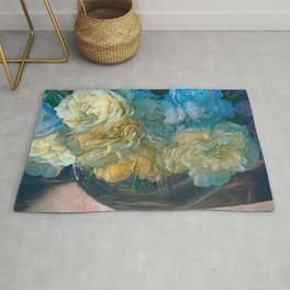 Vintage Still Life Bouquet by OLena Art  Rug