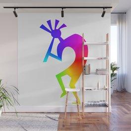 Kokopelli Rainbow Gift Wall Mural