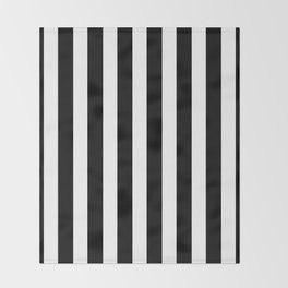 Classic Black and White Football / Soccer Referee Stripes Throw Blanket