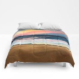 """""""OBX Sunset"""" Beach Art Comforters"""