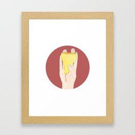 Popire poire Framed Art Print