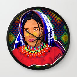 Huichol Wall Clock