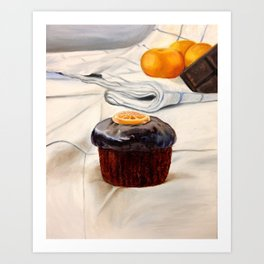 Clementine Cupcake Art Print