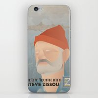 steve zissou iPhone & iPod Skins featuring Zissou by Jake Jones