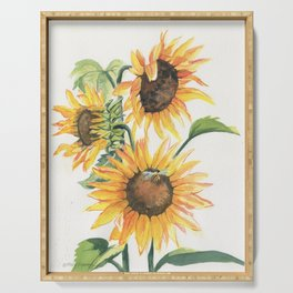Sunny Sunflowers Serving Tray