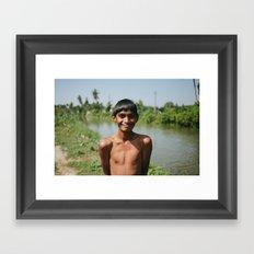 Out for a Swim Framed Art Print