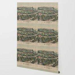 Vintage Pictorial Map of Mount Vernon VA (1859) Wallpaper