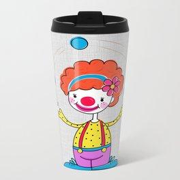 Juggling Clown Metal Travel Mug