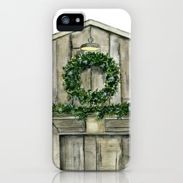 Winter Barn iPhone Case