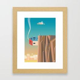 Off the edge Framed Art Print