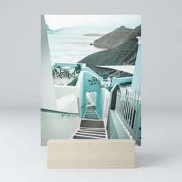 Stairway Greek Island Thira Aegean Sea Mini Art Print