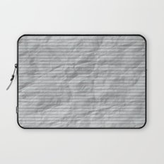 Crumpled Lined Paper Laptop Sleeve