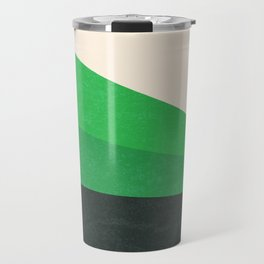 Stripe V Green Fields Travel Mug