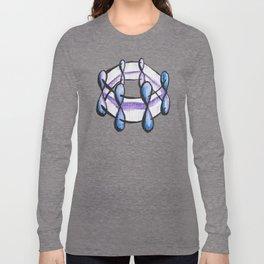 Benzene Molecule Organic Chemistry Pattern Long Sleeve T-shirt