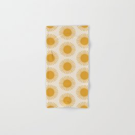 Golden Sun Pattern Hand & Bath Towel