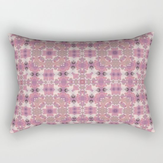 Abstract pattern in pink beige Browns . Ornament . Rectangular Pillow