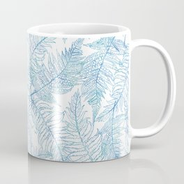 Fern Silhouette Blue Coffee Mug