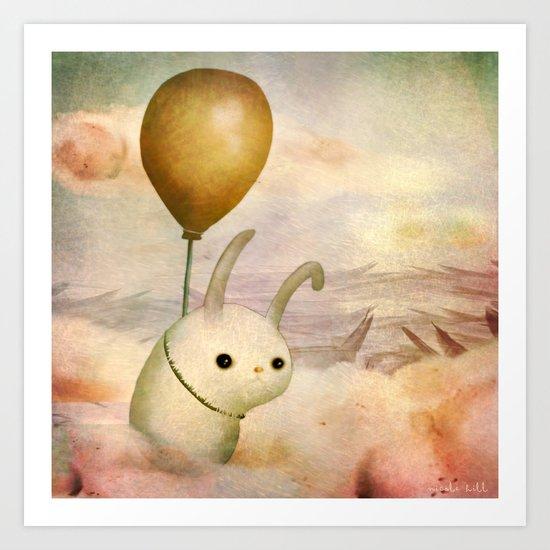 Bun Bun and the Balloon Art Print
