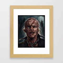 Jason Voorhees - Unmasked - Friday the 13th Framed Art Print