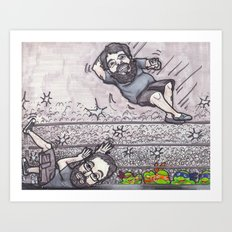 Elbow drop Art Print