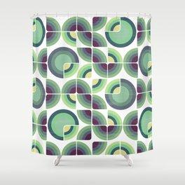 Green Fields Pattern Shower Curtain