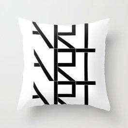 Art Art Art Throw Pillow