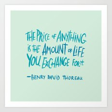 Henry David Thoreau Art Print