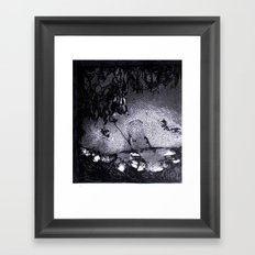 Cave Drawing III Framed Art Print