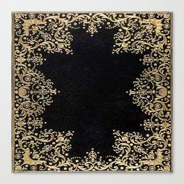 Black and Gold Filigree Canvas Print