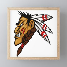 Angry Indian Chief Framed Mini Art Print