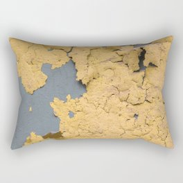 Flaked yellow paint on green surface Rectangular Pillow