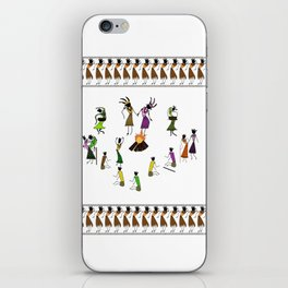 Wedding_Ceremony_Saura_Tribal_Art iPhone Skin