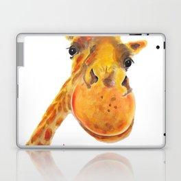 Cute Giraffe ' BENNY ' by Shirley MacArthur Laptop & iPad Skin