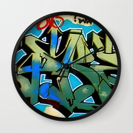 Wildstyle Tag Wall Clock