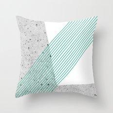 GEO ON CONCRETE Throw Pillow
