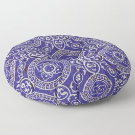 Bohemian pattern: blue and white design Floor Pillow