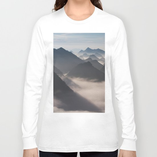 Mountain Valley #society6 Long Sleeve T-shirt