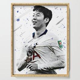 Son Heung-min Football Print Football Wall Art Football Poster Football Wall Decor Poster Serving Tray