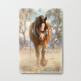 The Clydesdale Metal Print