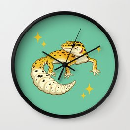 Sparkly Leopard Gecko Wall Clock