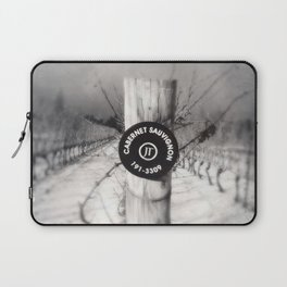 Cabernet - black and white wine photo vineyard Laptop Sleeve