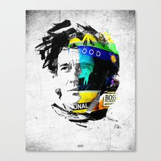 Ayrton Senna do Brasil - White & Color Series #4 Canvas Print