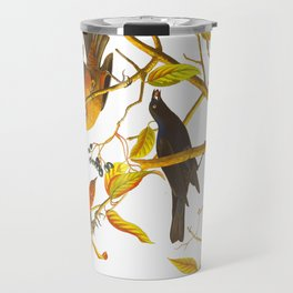 Rusty Grackle Bird Travel Mug