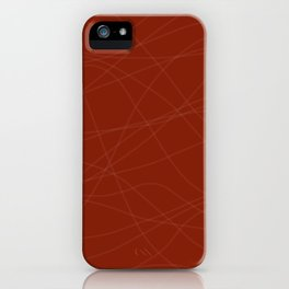 Red with Lines iPhone Case