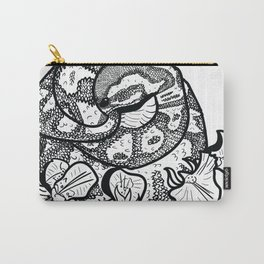 Python and iris flowers Carry-All Pouch